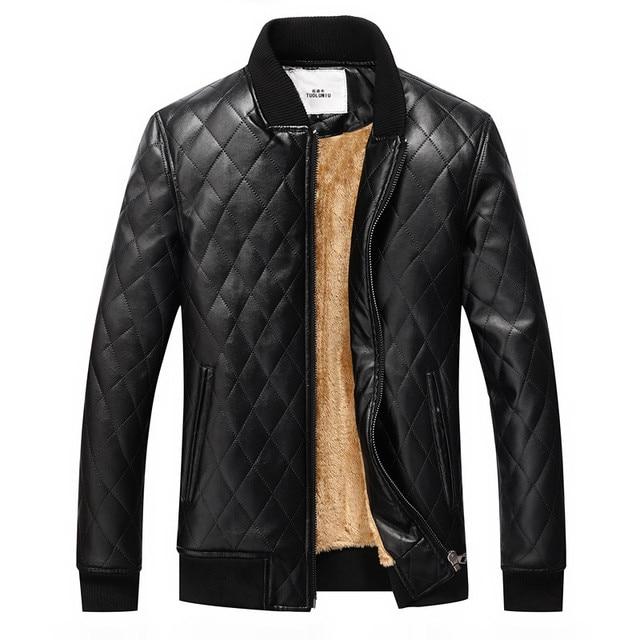 2017 hot men warm leather jackets motorcycle jacket wind coat Overcoat free shipping