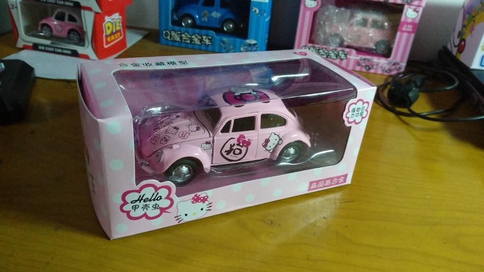 1:32 12cm Volkswagen Beetle bubble car hello kitty Doraemon batman cool alloy model children birthday toy gift for boy