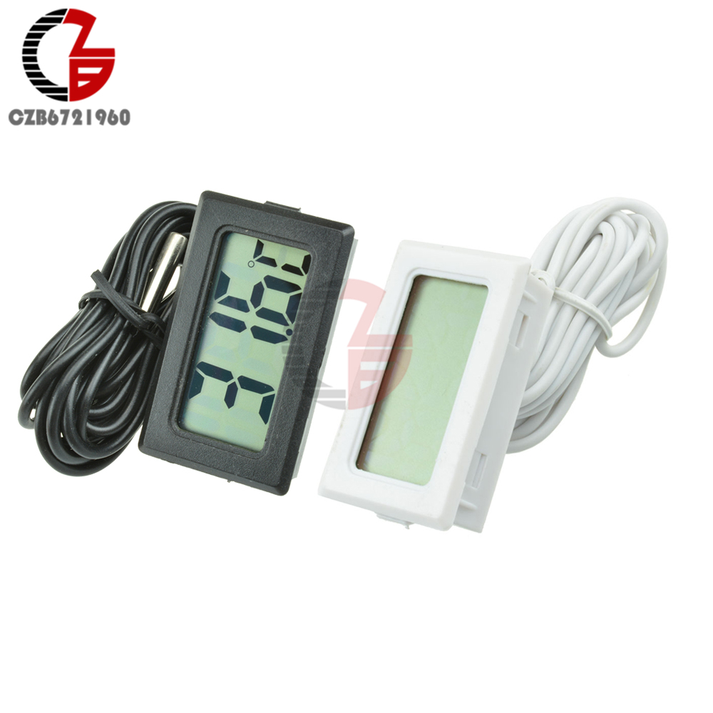 цена на TPM-10 LCD Digital Thermometer Hygrometer Temperature Humidity Sensor Meter Weather Station Temperature Controller Thermostat 2M