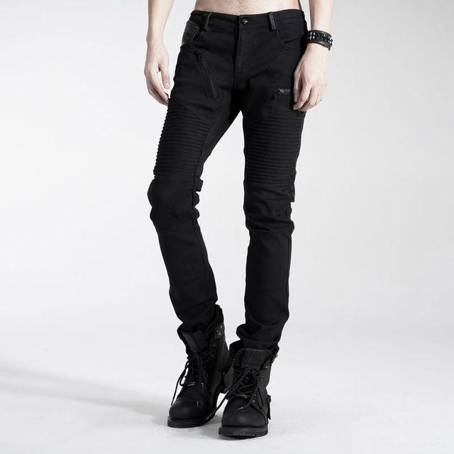Punk Rave calças casuais moda gótico bonito Streampunk motocicleta K154
