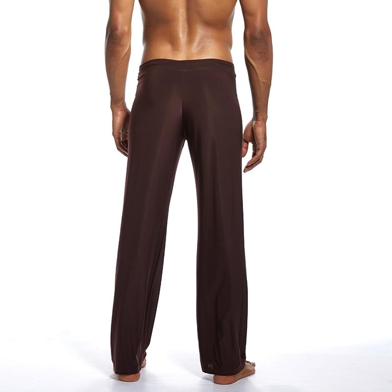Schlaf- Und Hauskleidung Für Herren Schlafhosen Männer Lange Yoga Hose Thin Pyjamas Hosen Weiche Sexy Sommer Atmungsaktiv Für Home Fs99