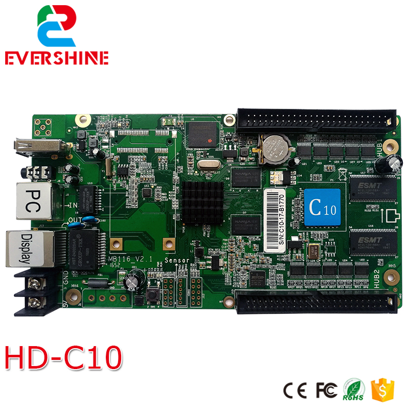 C10 HD-C10 Full Color Asynchronous Control Card For LED display