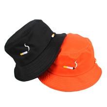 NO CHILL Bucket Hat Harajuku Hip Hop Fishing Women Men Summer Cap Fashion Cigarette Embroidery Rapper Streetwear Flat Caps