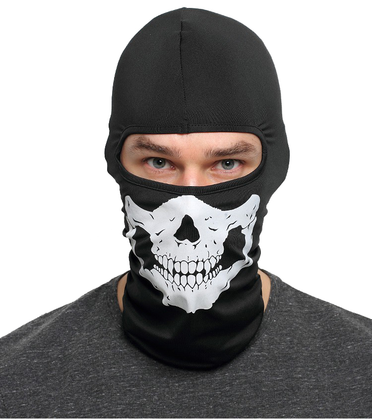 2017 Hot Cycling Motorcycle Cap Skull mask Ride skeleton Stretch Hat Balaclava Hood Cosplay Costume Full Face Masks