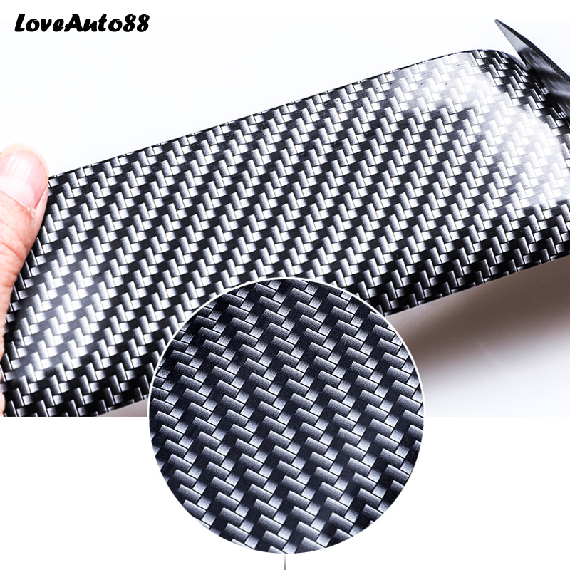 Image 5 - Car styling Carbon Fiber Rubber Door Sill Protector Goods For Mitsubishi Lancer 9 10 Car Accessories interior 2018 2019-in Interior Mouldings from Automobiles & Motorcycles