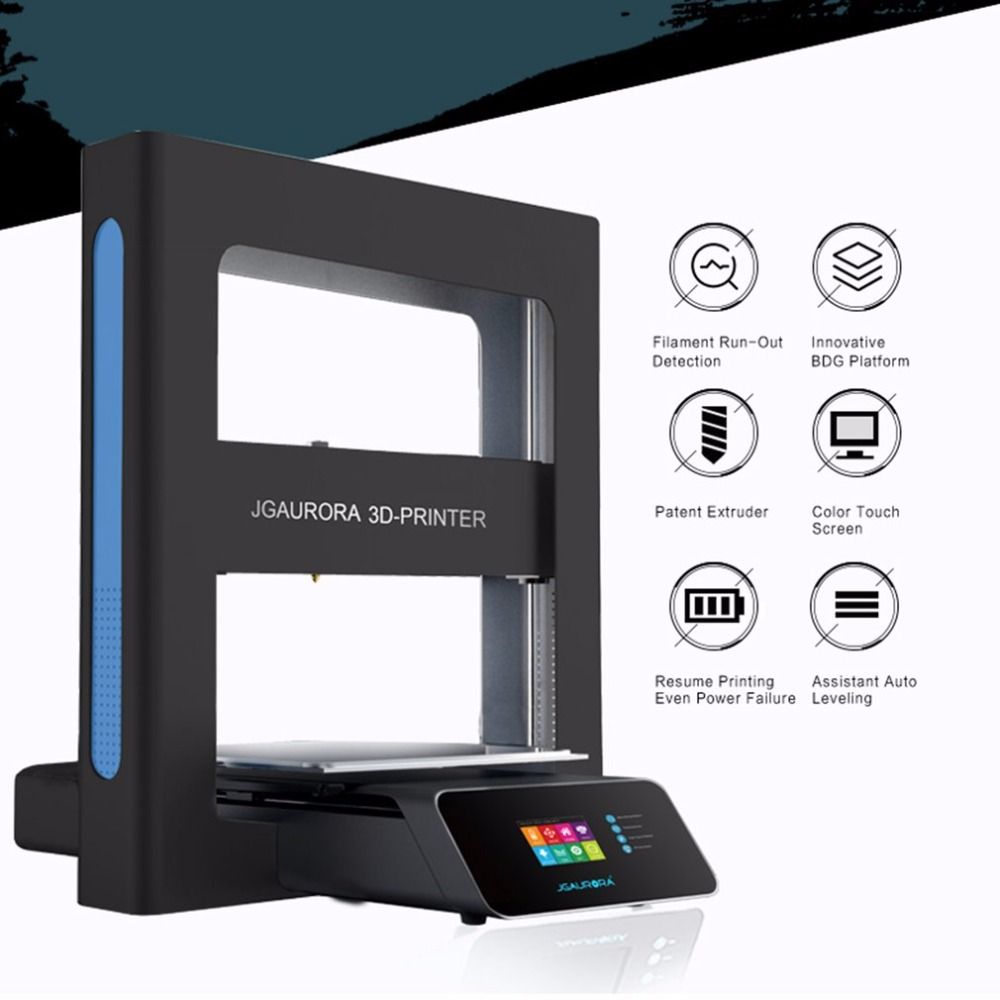 JGAURORA Desktop 3D Printer Color High Precision Large Print 300*300*320 Touch Screen Printing Machine Mini DIY Printer 3 D A5 promotion price mingda new glitar 6c 300 200 600mm big 3d printer machine large 3d printing machine with touch screen lcd