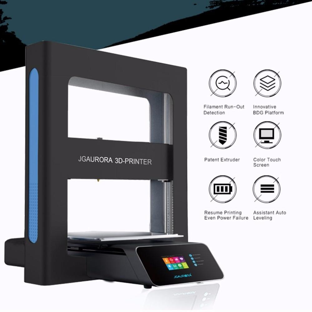 JGAURORA Desktop 3D Printer Color High Precision Large Print 300*300*320 Touch Screen Printing Machine Mini DIY Printer 3 D A5 original jgaurora a5 updated mini 3d printer 305 305 320mm diy w 305 305 320mm printing area printing machine support sd card