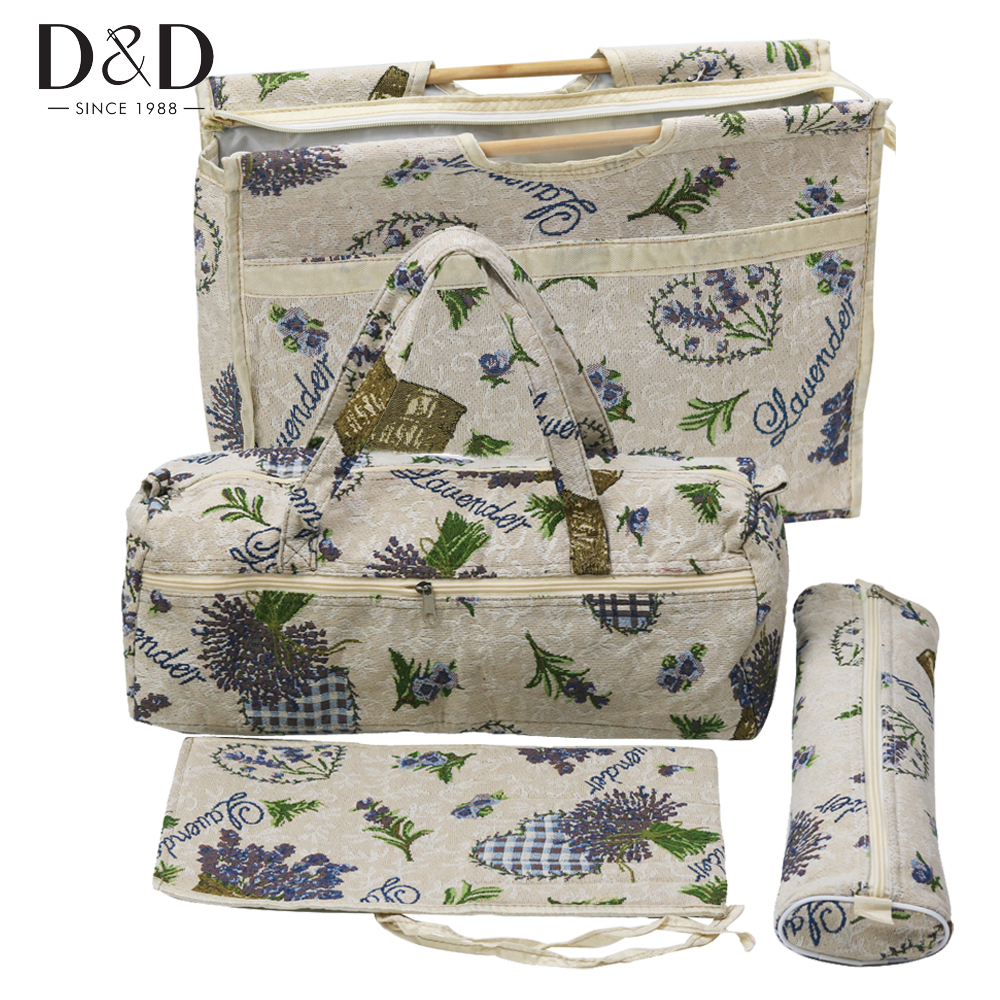 D D 4pcs Set Practical Knitting Needles Storage Bag Household Knitting Tools Bag Sewing Accessories Organizer