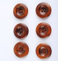 New arrival 50pcs Coffee 4 holes round wood button  sewing  for DIY clothing   25mm diameter AE03127