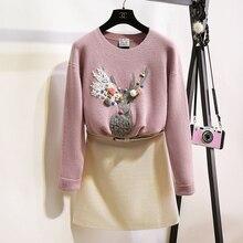 2016 autumn new font b women s b font Korean cartoon loose sweater