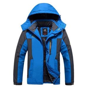 Image 5 - Winter Jacket Men Thick Windproof Waterproof Fleece Jackets Mens Military Outwear Parka Overcoat Plus size 6XL7XL 8XL 9XL  Coats