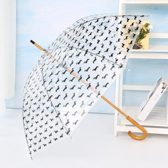 LIBERAINY Прозрачный Зонтик Собака Такса Дети Девочка прозрачный милый дождь мода сладкий желе красочные женские свадебные украшения
