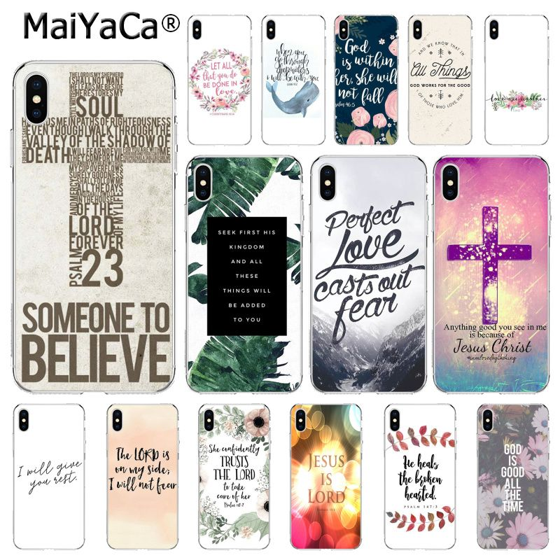 MaiYaCa Bible verse Philippians Jesus Christian Case For iphone 11 Pro 11Pro Max 8 7 6 6S Plus X XS MAX 5 5S SE XR