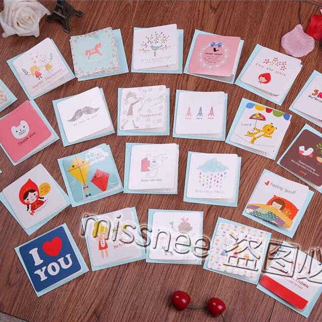Man Greeting Cards Korean Small Cute Mini Birthday Thank You Card