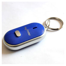 New 4 Colour Sound Whistle Control LED Key Finder Locator Find Lost Unisex Keychain Plasic Keys Chains Women Men Jewelry