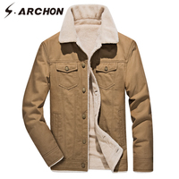 S.ARCHON Winter Cotton Tactical Jackets Velvet Thick Warm Army Military Jacket Casual Warm Windproof Aire Force Outerwear Coat