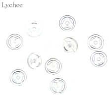 Lychee 20 pcs 4 millimetri A Scatto Bottoni Baby Doll Vestiti Bottoni FAI DA TE Cucito Mestiere Scrapbooking Accessori(China)