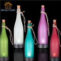 Modern Multicolor Solar Plastic Wine Bottle Modeling Lights ip44 Waterproof Courtyard Decorative Outdoor Hanging Lights Pathway