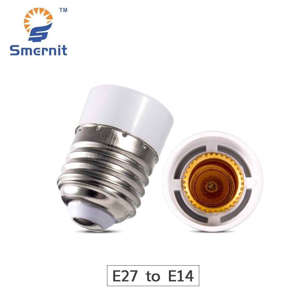 1PCS E27 to E14 Lamp Holder Converter LED Light Base Adapter Socket Conversion Light Bulb Base Screw Adapter