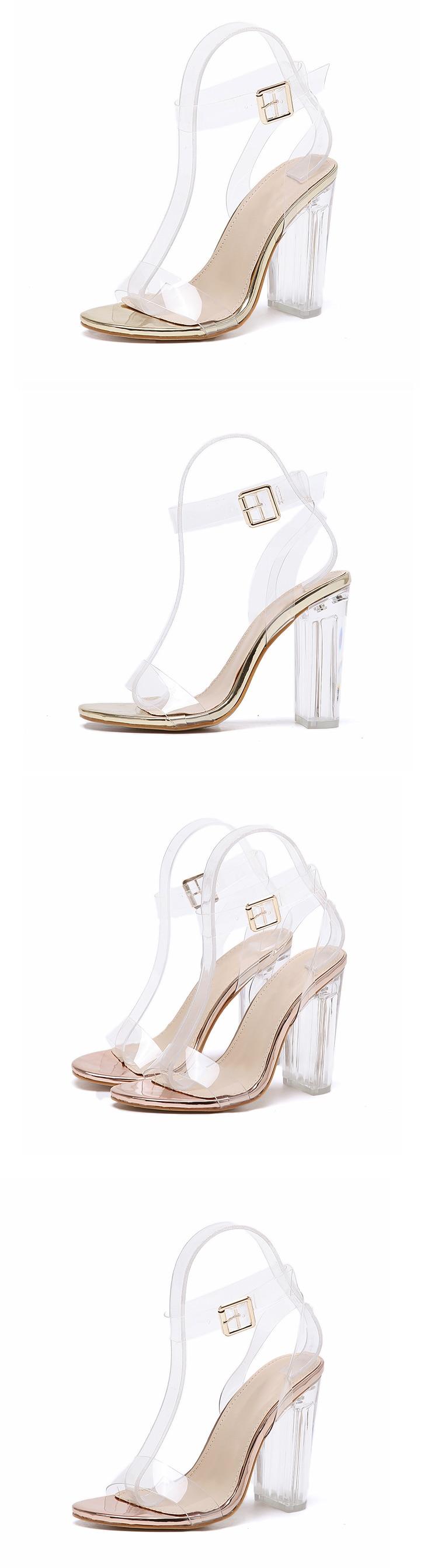 HTB1EBldXdfvK1RjSspfq6zzXFXah Eilyken 2019 PVC Jelly Sandals Crystal Leopard Open Toed High Heels Women Transparent Heel Sandals Slippers Discount Pumps 11CM
