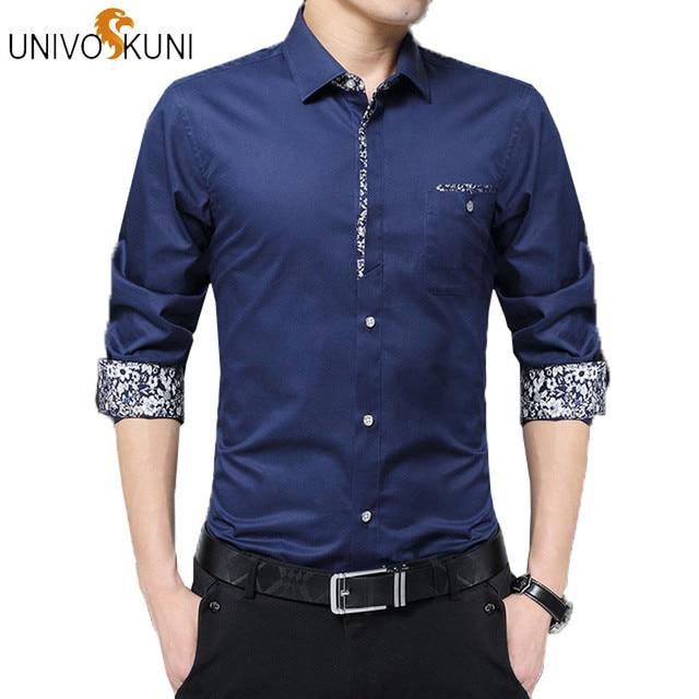 Skinny Fit Overhemd.Univos Kuni Mannen Overhemd Merk 2018 Mannelijke Hoge Kwaliteit