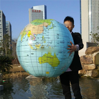 54CM Inflatable Globe Map Ball Geography Learning Educational World Earth Ocean Beach Ball Kids Geography Educational Supplies