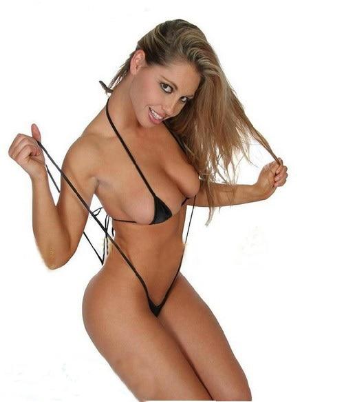3c9099aefa86 Drop shipping Gift for women white black pink red cotton Micro Bikini Tiny  Bra & Thong mini sexy Underwear Bathing bikini