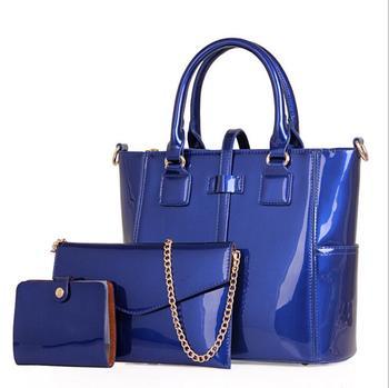 Maelove HOT 3Pcs/ Set Women-messenger-bags PU Leather Women casual Totes shoulder Bag +Messenger Bag+Purse +clutch Composite Bag