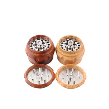 2019 New Arrival 4-Layer Alloy Herbal Herb Wood Tobacco Grin