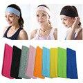 Однотонные повязки на голову 10 шт./лот для мужчин и женщин, Спортивная тренировочная эластичная повязка на голову для йоги/спортзала, регули...