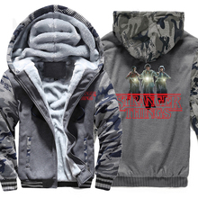 thick sweatshirt jacket male quality clothing 2019 man's hoodies wool liner warm tracksuit men Camouflage raglan sleeve coats недорого