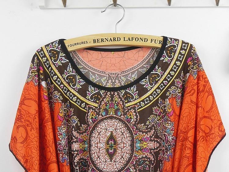 Vintage Dress 2017 New Summer Style Retro Print Boho Loose Casual Dress Bohemian Tunic Beach Dress Vestidos Plus Size Dress 19