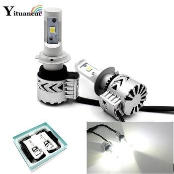 Yituancar 2X LED Car Headlight 36W Auto Motorbike Bulb 6000LM White Color 6500K LuxeonMZ Light Source Styling Front Fog Lamp