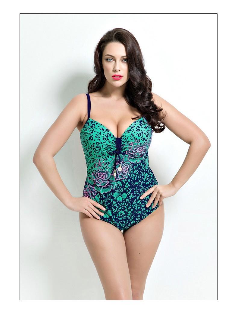 ab4fd697c0 2018 summer Brand Womens Plus Size One piece Swimwear Padded Bikini ...