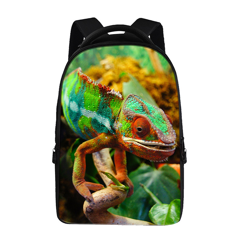 Animal lizard prints Backpacks For Teens Computer Bag Fashion School Bags For Primary Schoolbags Fashion Backpack Best Book Bag
