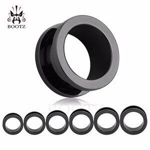 Image 5 - KUBOOZ Ear Piercing Tunnels Stainless Steel Screw Expander Plugs Gauges Earring Body Jewelry Fashion Gift 6mm 20mm 48PCS/Lot