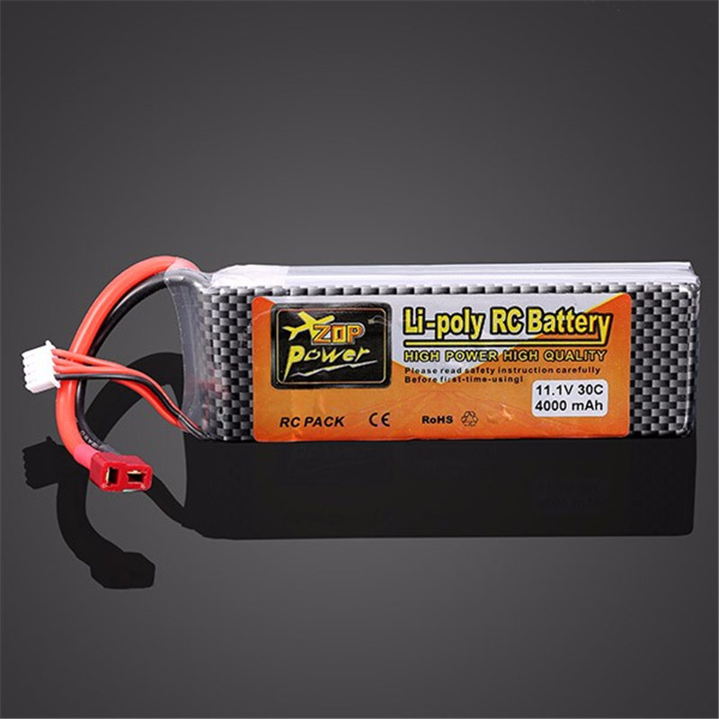High Quality ZOP Power 11.1V 4000MAH 30C Lipo Battery T Plug  Low Resistance Battery Good Consistency Ultra Light RC Battery high quality zop power 11 1v 1500mah 25c lipo battery t plug