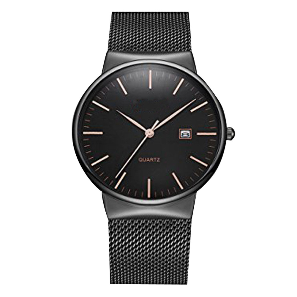 OTOKY Men Crystal Stainless Steel Date Quartz Wrist Hour Watches Big Dial Watches Fashion Causal Business Watches MAY11 D23