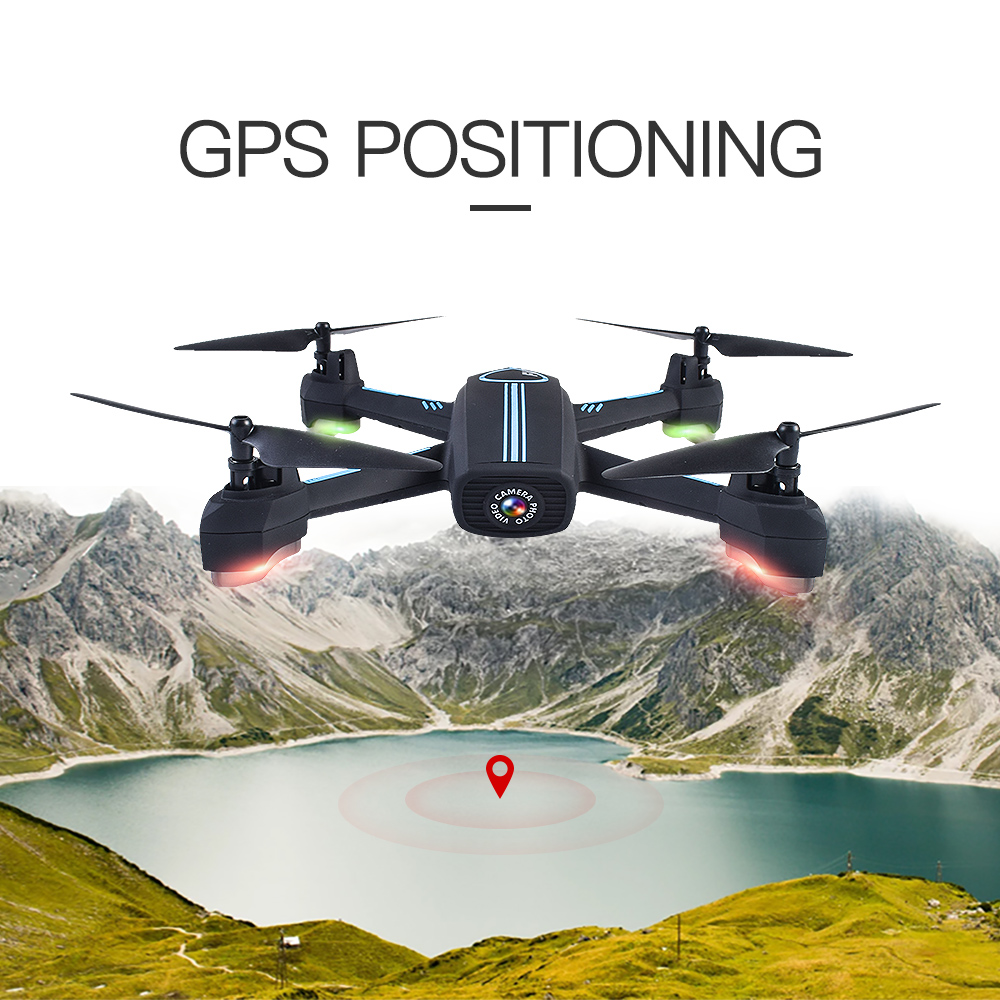 JXD528 GPS Drone with Follow me mode WIFI FPV Quadcopter RC Drone with Camera GPS Follow Auto Return Altitude Hold RC Helicopter follow me down