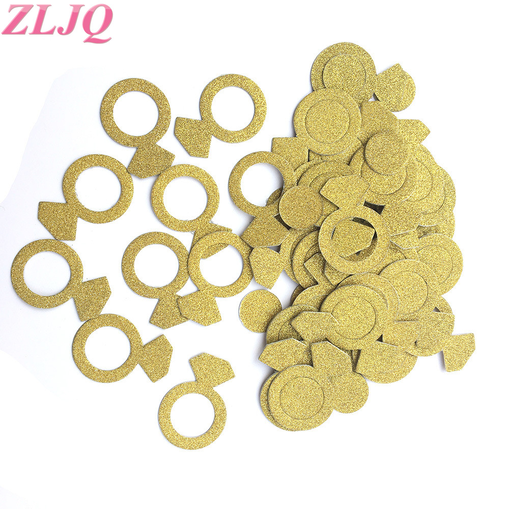 Independent Zljq 30g Glitter Gold Ring Crown Confetti Wedding Table Star Scatters Hen Party Heart Confetti Birthday Party Wedding Decoration Extremely Efficient In Preserving Heat Home & Garden