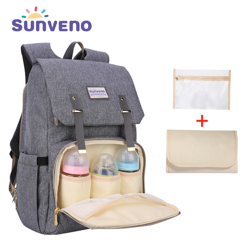 SUNVENO New Fashion Diaper Bag Backpack Large Capacity Baby Bag Nappy Bag for Baby CareSUNVENO New Fashion Diaper Bag Backpack Large Capacity Baby Bag Nappy Bag for Baby Care