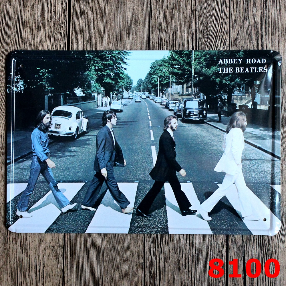 5 colors american famous band retro 20x30cm vintage tin plate metal tin signs wall decor garage