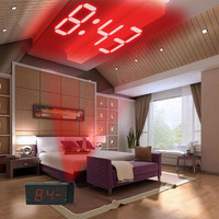 Digital Alarm Clock Multifunction With LED Projection FM Radio L516