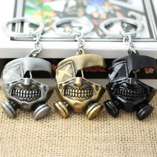 Tokyo Ghoul Ken Kaneki Mask Alloy Pendant Keychain