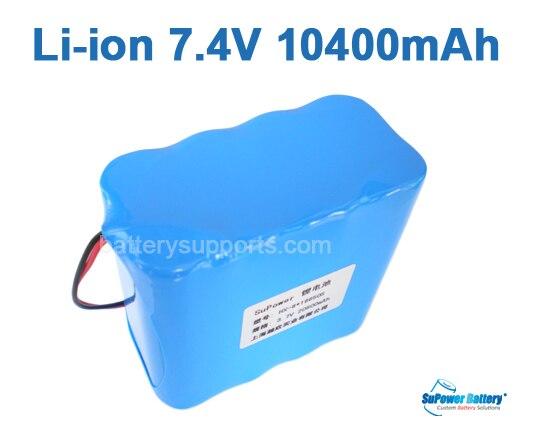 SuPower 7.2 V 7.4 V 8.4 V 18650 10.4Ah Lithium ion Li Ion Sạc Pin Max. 5A  với được xây dựng trong board mạch bảo vệ trong SuPower 7.2 V 7.4 V ...