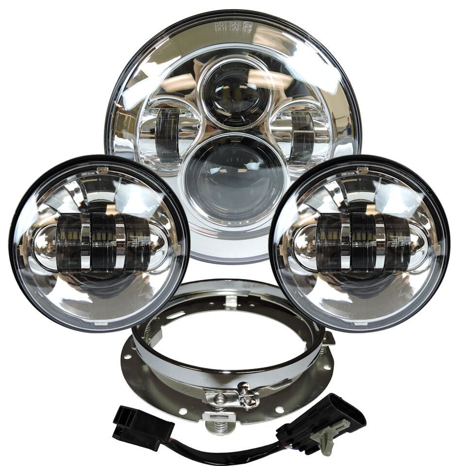 """Headlight Harley Motorcycle Parts 7"""" LED Daymaker"""