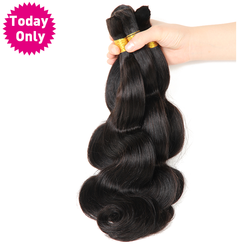 TODAY ONLY 3 Bundles Deals Brazilian Body Wave Bundles Human Braiding Hair Bulk No Weft Extensions Brazilian Hair Weave Bundles