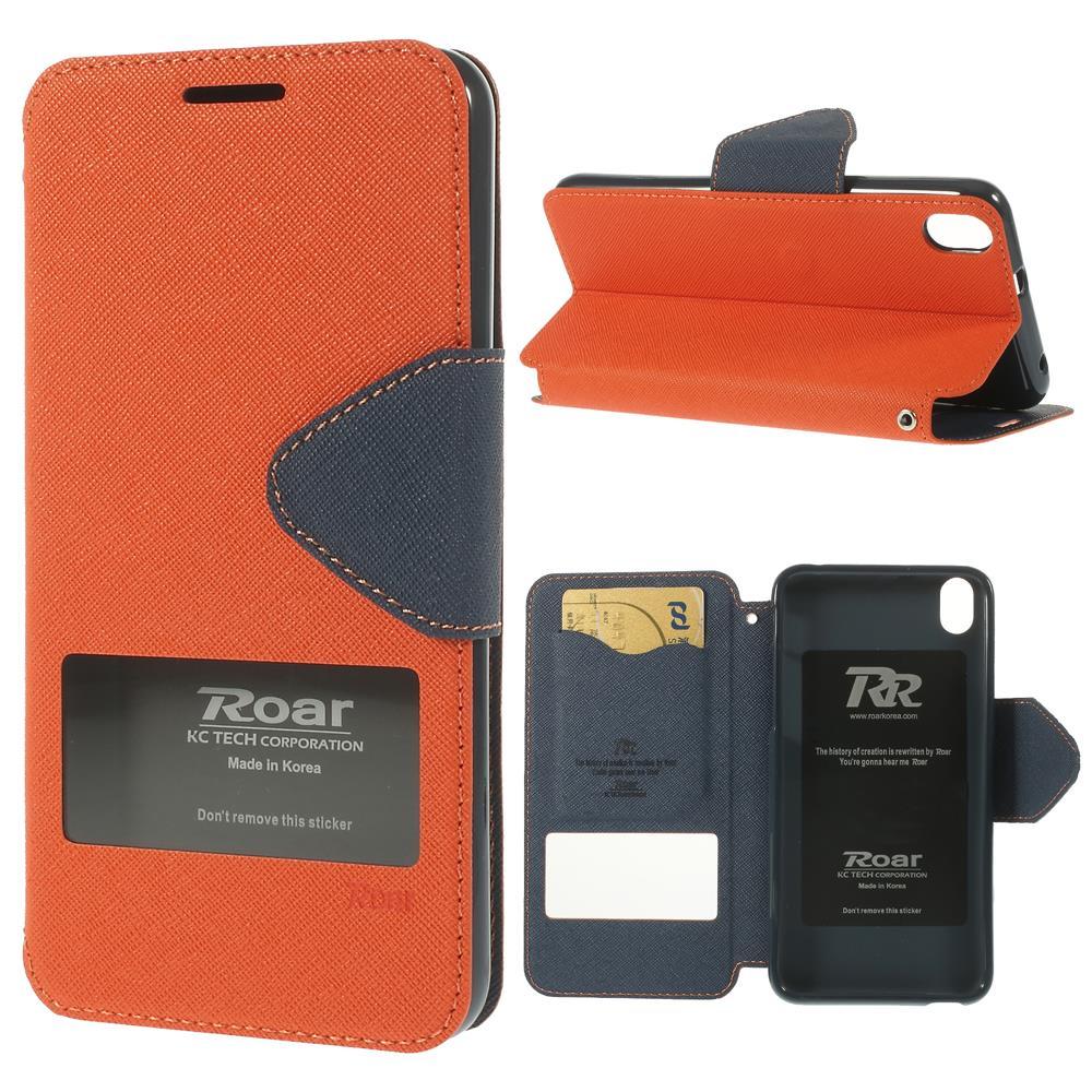 For HTC Desire 816 Leather Case Roar Korea Diary View Window Leather Case for HTC Desire