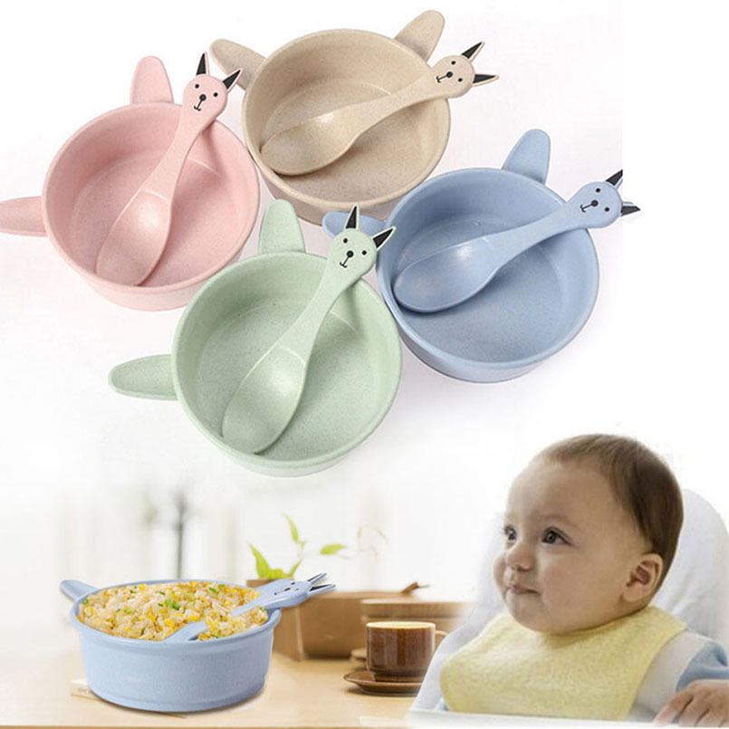 Dinnerware Cartoon Bowl With Wheat Straw ear Single bowls For Kids Heated Food Containers For Ramen Noodles Instant Noodles bowl