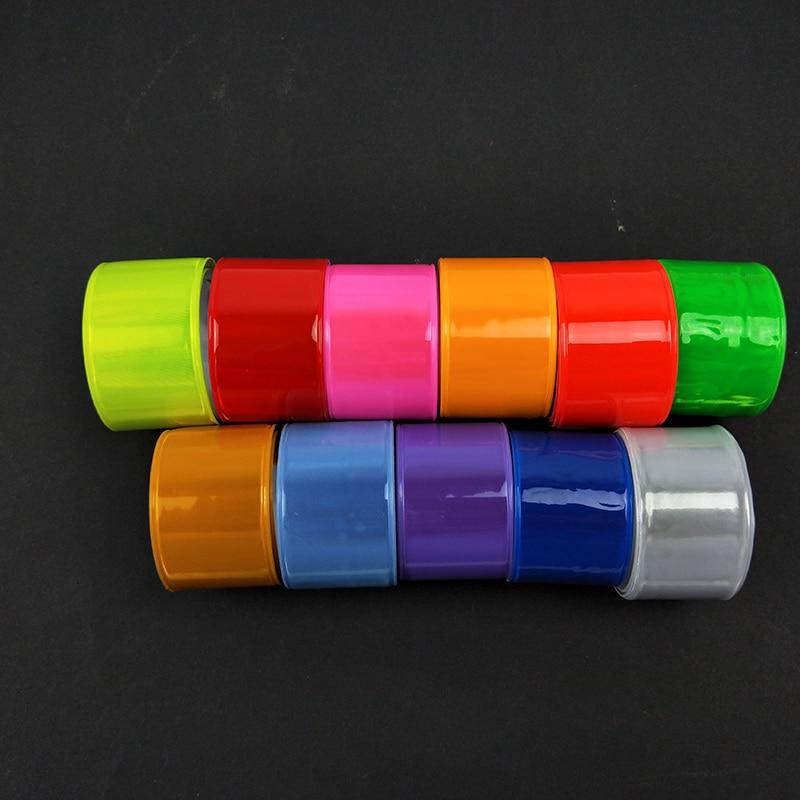 30CM Reflective Wristband Slap Band Bracelets Slap Wrap Promotional Gifts Armband For Running Riding Safety Visibility